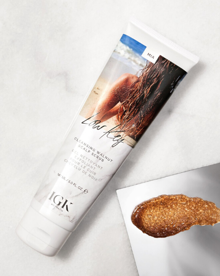 IGK –Low Key, Cleansing Walnut Scalp Scrub