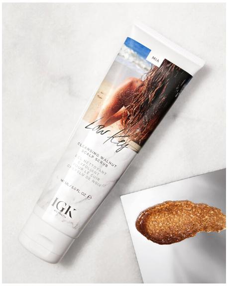 IGK –Low Key, Cleansing Walnut Scalp Scrub