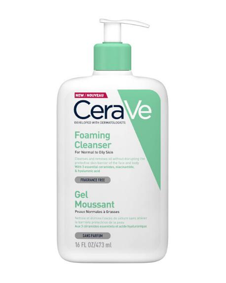 CERAVE – Foaming facial cleanser / Gel limpiador espumoso