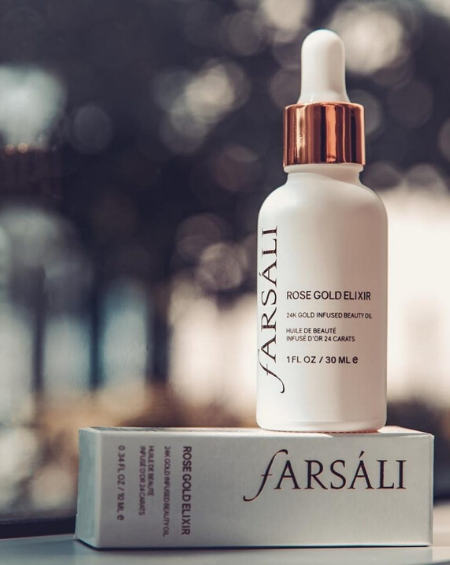 FARSALI – Rose Gold Elixir – 24k Gold Infused Beauty Oil