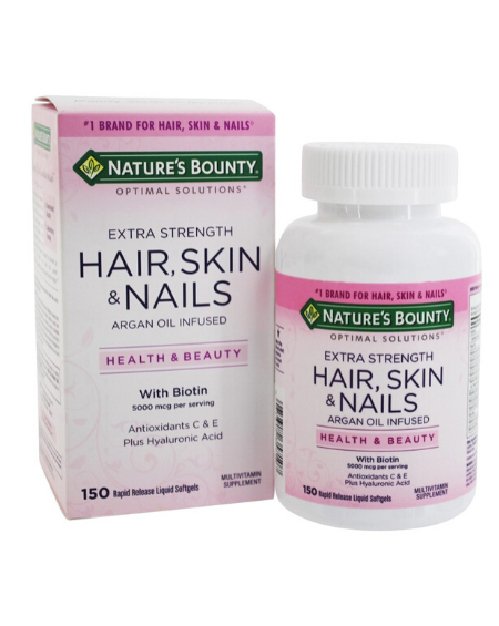 NATURE'S BOUNTY - Hair, Skin & Nails Extra Strength 150 Capsulas