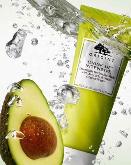 ORIGINS – Drink Up™ Intensive Overnight Hydrating Mask with Avocado & Swiss Glacier Water